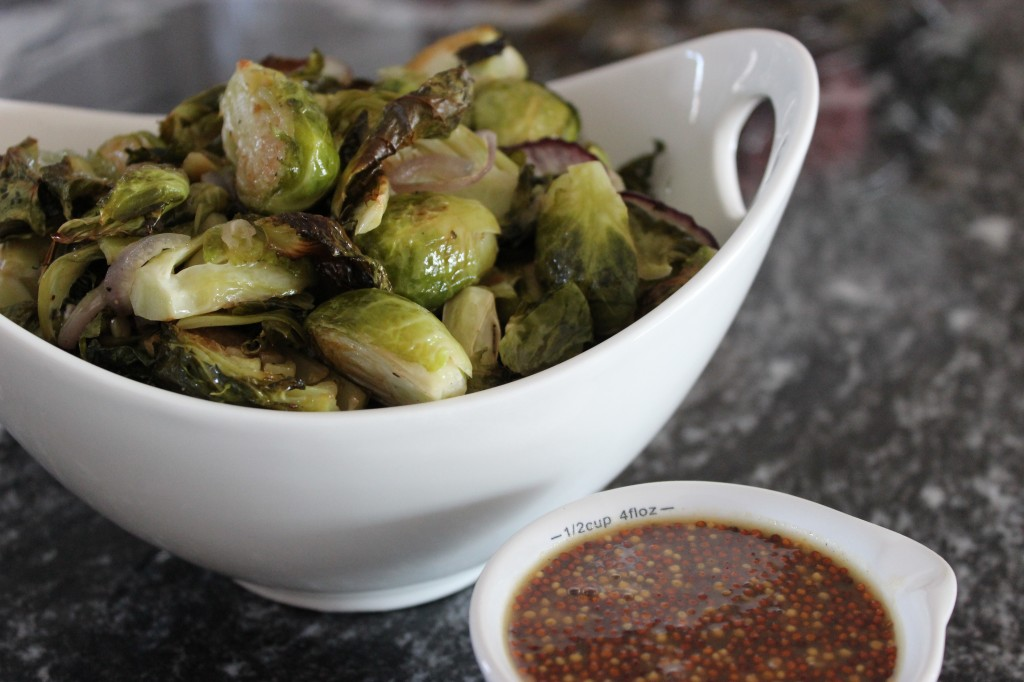 ... different flavor profile here maple dijon roasted brussels sprouts
